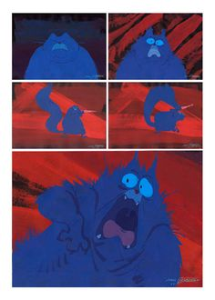 Disney's Lorenzo. Mike Gabriel's painted character poses/storyboards for his BRILLIANT Disney short