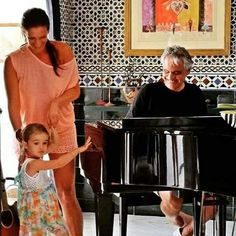 His family is lovely! Veronica is beautiful and Virginia is adorable!