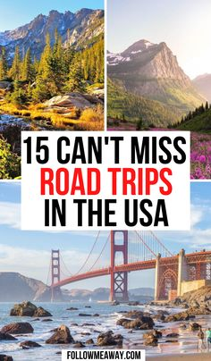 The Best USA Road Trips To Take This Summer | How To Plan The Best USA Road Trip | where to go on your usa road trip | best usa destinations | bucket list locations for the us | united states road trip guide | things to do on your west coast road trip #roadtrip #usaroadtrip Usa Travel Guide, Travel Usa, Travel Guides, Travel Tips, Travel Destinations, Road Trip Packing, Us Road Trip, West Coast Road Trip, United States Travel