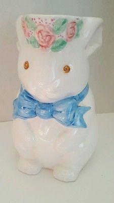 Ceramic Rabbit Pitcher by Ellen Blonder for Celebrations by Silvestri