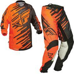 2014 Fly Racing Kinetic Shock Kit Combo - Orange Black