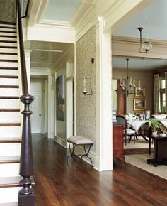 My gracious....what a beautiful townhouse!!!   Let's build some of these in Lexington, SC!!!   Southern Living townhouse foyer