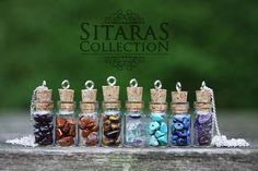 Handmade Fluorite necklace Fluorite gemstone por SitarasCollection