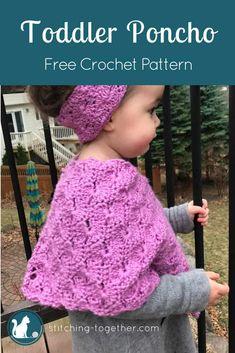Crochet Baby Poncho, Crochet Toddler, Crochet Baby Clothes, Crochet For Kids, Free Crochet, Crochet Edgings, Crochet Motif, Crochet Shawl, Crochet Ideas