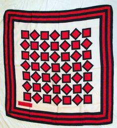Vintage Yves Saint Laurent Scarf Navy Red Stripe Geometric 31 x 33 | eBay
