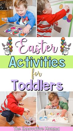 Looking for some fun Easter activities for toddlers? In this post, I'm sharing 12 fun and engaging toddler Easter activities that will help support your child's developement! #easteractivitiesfortoddlers #toddlereasteractivities #easteractivities Easter Activities For Toddlers, Preschool Activities At Home, Fine Motor Activities For Kids, Infant Activities, Family Activities, Easter Decor, Easter Crafts, Holiday Crafts, Holiday Ideas
