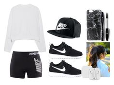 """""""Nike"""" by martineeikefjord on Polyvore featuring NIKE, Acne Studios, Casetify and Lancôme"""