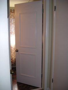 Faux paneled door DIY