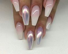 Beautiful nails 2017, Beige and pastel nails, Cool nails, Fall nail ideas, Nails trends… - coffin #nails #nailscoffin #coffinnails