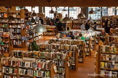 Elliot Bay Book Store in Seattle.  You can spend hours in here.