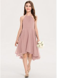 A-Line Off-the-Shoulder Floor-Length Tulle Junior Bridesmaid Dress With Ruffle - JJ's House Girls Fashion Clothes, Girl Fashion, Fashion Outfits, Dance Dresses, Girls Dresses, Bridesmaid Dresses Plus Size, White Flower Girl Dresses, Dress Gloves, Western Dresses
