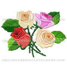 {Flowers- Roses-  amazingembroiderydesigns-1105374-80776 K.H.}  Amazing Embroidery Designs