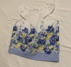 Janie and Jack Kids Girls Size 4 Top Multi-Color 100% Cotton Summer Everyday #JanieandJack #Everyday
