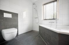 Badkamer Zwart Wit Grijs : Lvdp Antraciet Vloertegels In Woonkamer throughout Badkamer Antraciet