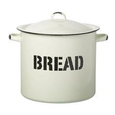 ACHICA | Parlane Enamel Bread Bin, White