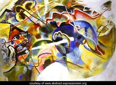 Picture With White Border - Wassily Kandinsky - www.abstract-expressionism.org
