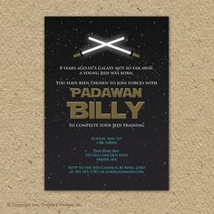 love this Star Wars party invitation