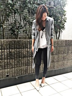 With different cardigan Grey Fashion, Love Fashion, Fashion Beauty, Autumn Fashion, Womens Fashion, Fall Outfits, Casual Outfits, Fashion Outfits, Fasion