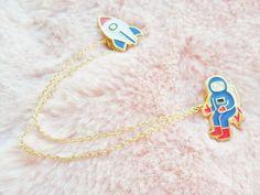 Astronaut Spaceman Rocket Spaceship Space by Hoodratroughdiamond