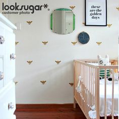 Bee Wall Stickers x 20 for Modern Living Space  by looksugar, $25.00