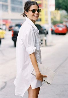 Wanted : une robe chemise blanche