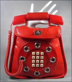 1970's working phone purse by Dallas Handbags