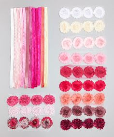 Look at this Pink DIY Shabby Flower Headband Set on #zulily today!