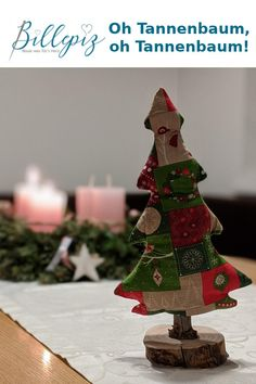 Weihnachtszeit ist Geschenkezeit. Macht euren Liebsten Freude mit einem selbstgenähten Christbaum!
