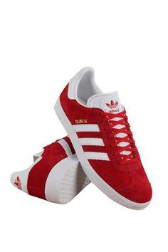 Adidas Originals Gazelle Suede Trainers Size 13 (Scarlet Red/White)