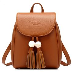 Cheap backpack bag, Buy Quality fashion backpacks bags directly from China backpack shoulder bag Suppliers: Lovely Small Girl's Backpack Casual Top PU Leather Tassel Student Backpacks Bag Fashion Women's Backpack Shoulder Bags New 2017 Girl Backpacks, School Backpacks, Leather Backpacks, Backpack For Teens, Backpack Bags, Fashion Bags, Fashion Backpack, Fashion Women, Sacs Design