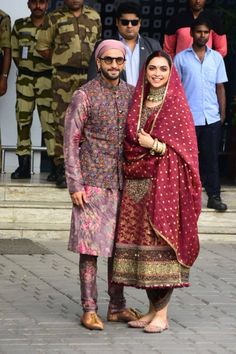 Power couple Deepika Padukone and Ranveer Singh celebrated one year of their togetherness yesterday.To embark Wedding Dresses Men Indian, Indian Bridal Outfits, Indian Bridal Fashion, Pakistani Dresses, Indian Dresses, Bollywood Outfits, Bollywood Fashion, Kurta Designs, Deepika Padukone Style