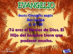 LEER ORANDO: Lectio divina del 27 de Septiembre de 2013 Lucas 9,18-22