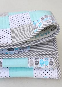 Lilttle Owl Quilt Stacked
