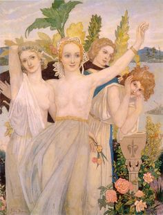 Happiness ~ John Duncan (Scottish 1866-1945)