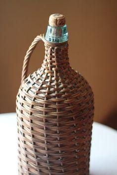 basket covered bottles