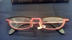 dc68ca9866 Theo Eyeglass Frames Authentic dupin 106 Matte Red Matte Black Pure Titanium   theo Matte