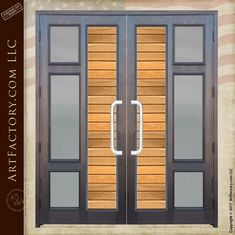 Contemporary Custom Double Doors | Modern Entry Doors With Sidelights - CD9997