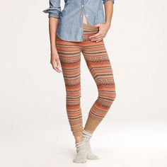 Fair Isle sweater-leggings. I am dying for these at work in the black... but I cannot pay $98.00 for these!