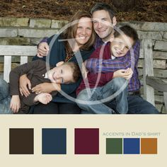 Dad was the color palette and the accent color for this session