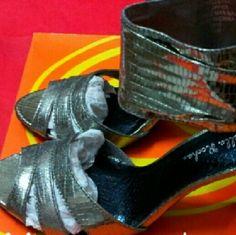 Gabriela Rocha Maelianna pewter ankle wrap 7M Gabriela Rocha Marianna Ankle Wrap Pewter 7M Brand new in box Gabriella Rocha Shoes Heels