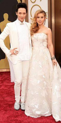 Academy Awards 2014: Arrivals : Johnny Weir and Tara Lapinski