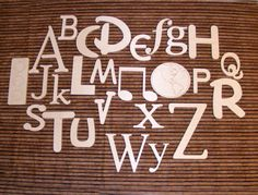 Wooden Wall Alphabet Set- Unpainted   Just got these for Layla's playroom....more painting in my future :)