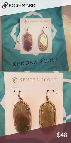 Kendra Scott Elle Earrings *Brown MOP* Brown mother of pearl Elle Earrings Kendra Scott Jewelry Earrings