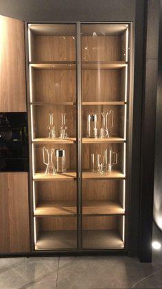 Kitchen Room Design, Home Room Design, Modern Kitchen Design, Home Decor Kitchen, Interior Design Kitchen, House Design, Kitchen Dining, Cool Kitchen Appliances, Kitchen Pantry Cabinets
