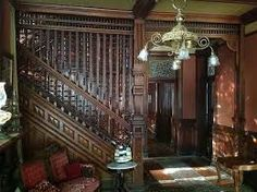 The Nunning House, which was built in is a one of a kind Mansion of the Queen Anne Victorian Style of Architecture. The home is of historical importance not only for its architecture, but als… Victorian Interiors, Victorian Decor, Vintage Interiors, Victorian Homes, Victorian Era, House Interiors, Victorian Stairs, Victorian Furniture, Tuscan Style Homes