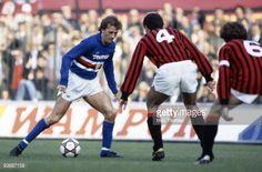 News Photo : Trevor Francis of Sampdoria with Mauro Tassotti...