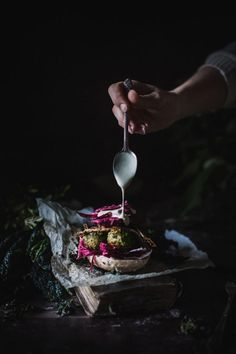 Vegetable Literacy Veggie Kale Burger, & on. In China, Dark Food Photography, Photography Ideas, Fresco, Learn To Cook, Rind, Food Pictures, Food Styling, Food Inspiration