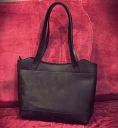 Black leather bag, handmade bag from leather, handbag for women, LB0206