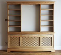 Cambridge radiator cover - front view On this particular bookcase, no backs were…