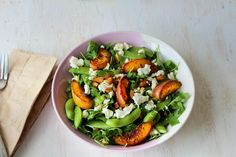 Summer Salad with Caramelised Peaches